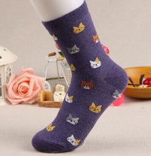Load image into Gallery viewer, Cat Cartoon Socks
