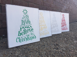 Love, Joy, Christmas Wall Sign