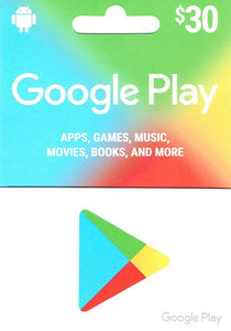 Google Play $30 Gift Card