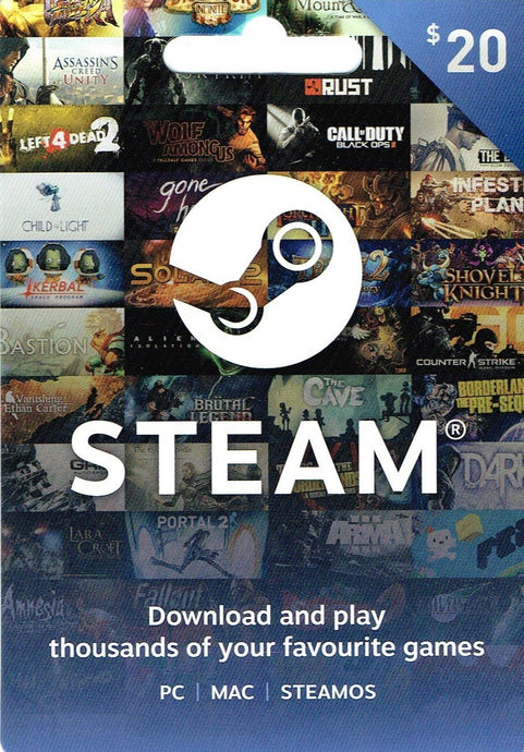 Steam $20 Gift Card