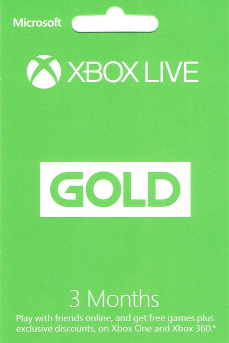 XBOX Live Gold 3 Month Membership