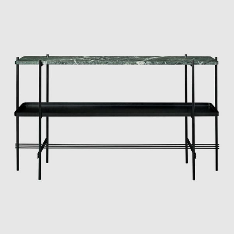 GamFratesi TS Console Rectangular 1 Marble Plate + 1 Metal Tray by Gubi