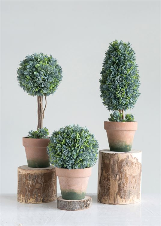 Faux Boxwood Topiary