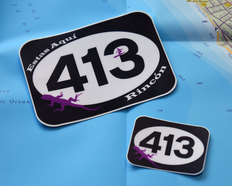 The 413 Lizard Stickers: a matched set