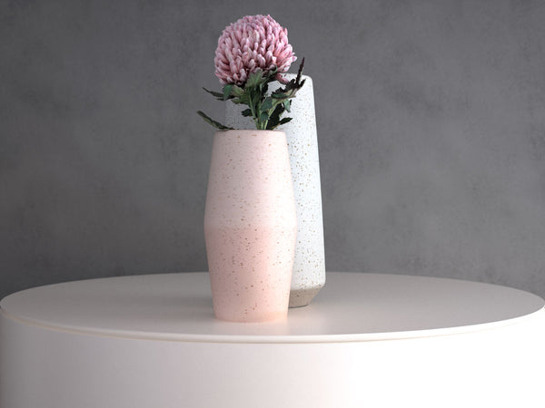 Chrysanthemum Flower Bundle: with Pink and White Speckle Vase set