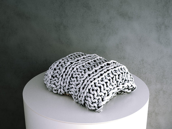 Folded Chunky Knit Throw / Blanket