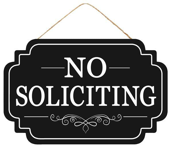 "12.5""L X 8""H No Soliciting Sign"