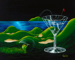 Island Golf by Michael Godard