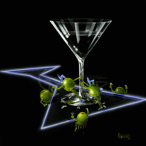 Dirty Martini 4 (Silly Wabbit) by Michael Godard