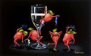 Strawberries Gone Wild by Michael Godard