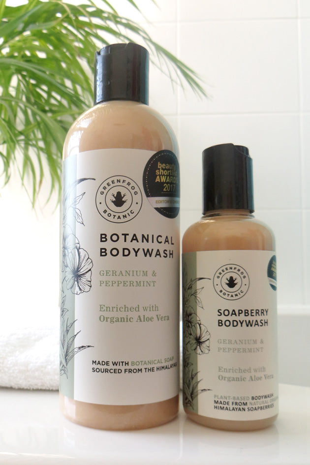 Geranium & Peppermint Organic Body Wash 300ml & 100ml