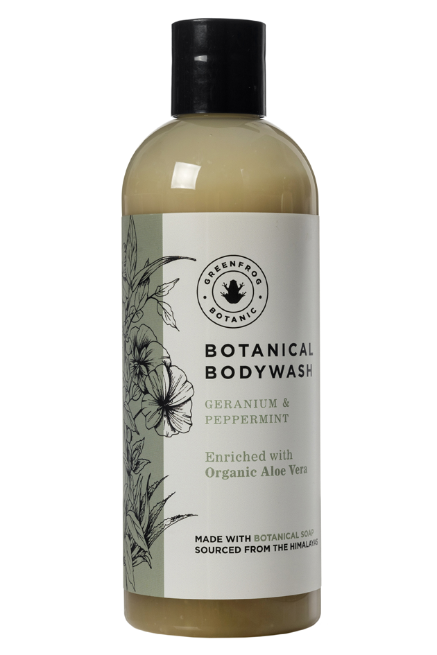 Organic Natural Body Wash - Geranium & Peppermint 300ml