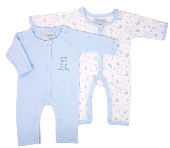 Sky Easy Access Premature Baby Rompers Twin Pack