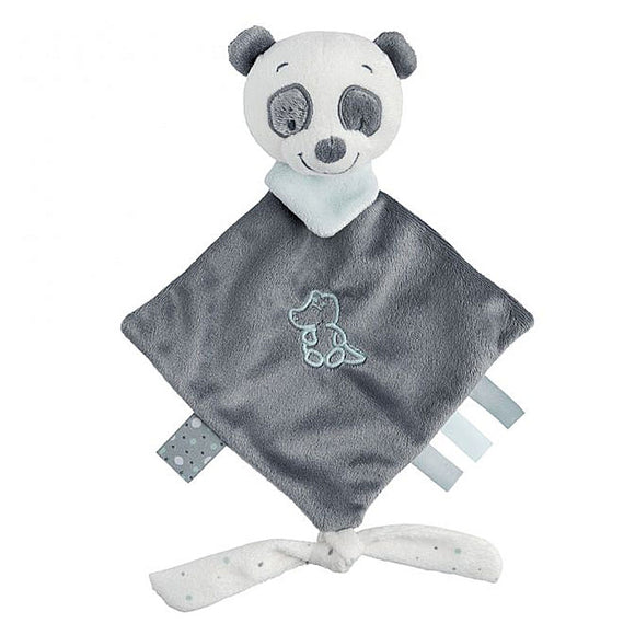 lou lou the panda is a mini sized comforter for a baby, suitable for a premature or tiny baby too