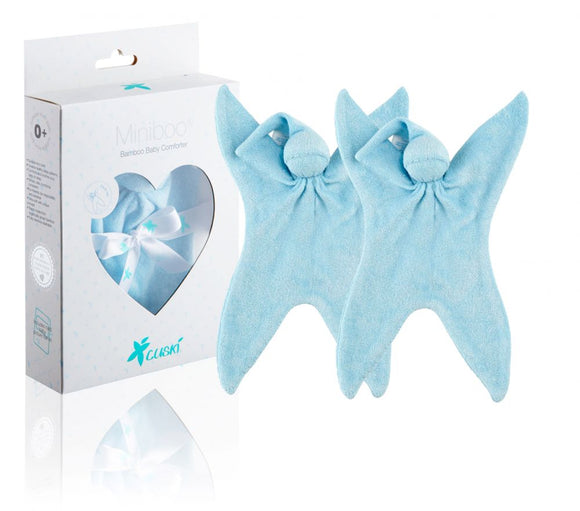 Blue Miniboo - Premature Baby Comforter Twin Pack