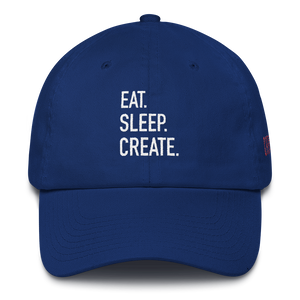 Eat Sleep Create Dad Cap