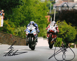 John McGuinness & Ian Hutchinson - TT 2016 - 10 x 8 Autographed Picture