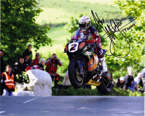 John McGuinness - Ballaugh Bridge - TT 2009  - 10 x 8 Autographed Picture