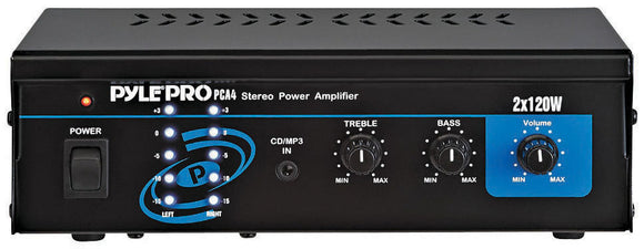 Pyle PCA4 2x120 Watt Mini Stereo Power Amplifier