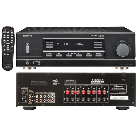 Sherwood RX5502 4-Channel 100-Watt Multisource Dual-Zone A/V Receiver