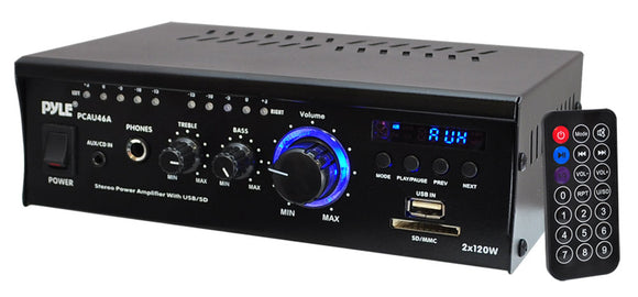 Pyle PCAU46A mini 2CH amplifier with USB