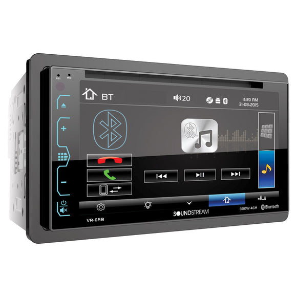 SoundStream VR65B 2-DIN AptiX Source Unit w/ Bluetooth & 6.2