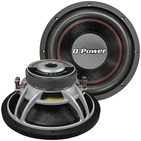 Qpower QPF12D 12 Woofer deluxe series DVC basket 70oz. magnet 1700 watts by Q Power