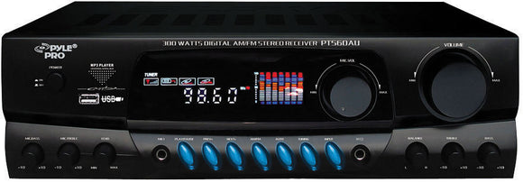 Pyle PT560AU 300 Watts Digital AM/FM/USB Stereo Receiver