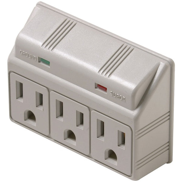 Steren 905-304 3-Outlet 270 Joules Plug-In Surge Protector