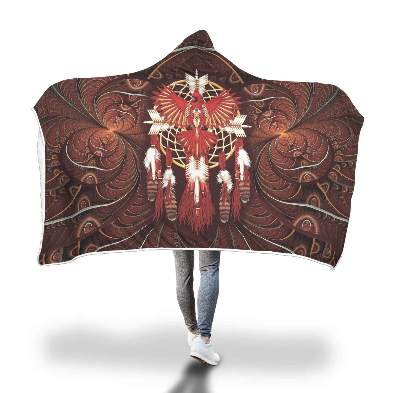 Buy DREAMCATCHER EAGLE NATIVE hooded blanket. - Familyloves hoodies t-shirt jacket mug cheapest free shipping 50% off