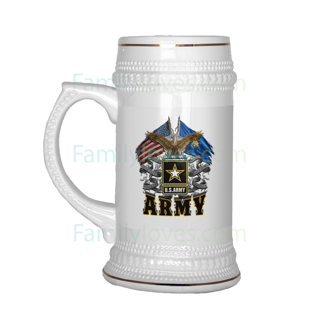 Buy U.S ARMY BEER STEIN - Familyloves hoodies t-shirt jacket mug cheapest free shipping 50% off