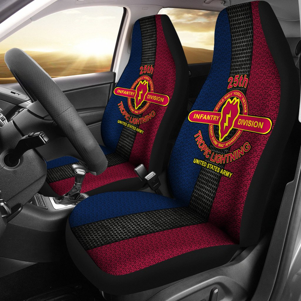 Buy 25th Infantry Division tropic lightning United States Army Car Seat Covers - Familyloves hoodies t-shirt jacket mug cheapest free shipping 50% off