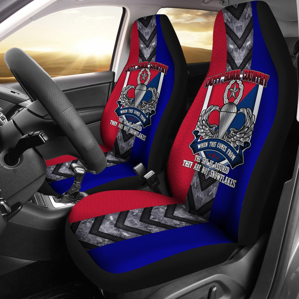 Buy Duty, honor, country when this comes from the sky... U.S. Army Paratrooper car seat cover - Familyloves hoodies t-shirt jacket mug cheapest free shipping 50% off