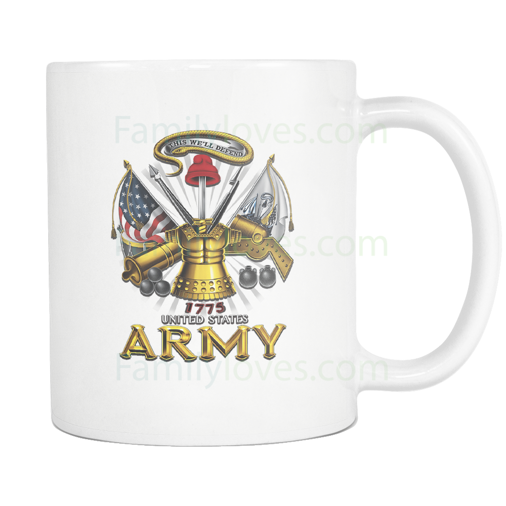 Buy UNITED STATES ARMY 1775, THIS WE'LL DEFEND MUG - Familyloves hoodies t-shirt jacket mug cheapest free shipping 50% off