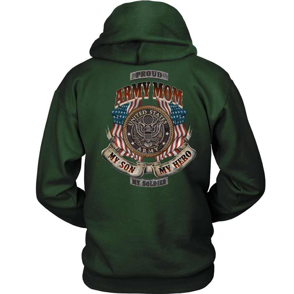 Buy PROUD ARMY MOM, U.S ARMY, MY SON MY HERO MY SOLDIER GILDAN HOODIE - Familyloves hoodies t-shirt jacket mug cheapest free shipping 50% off