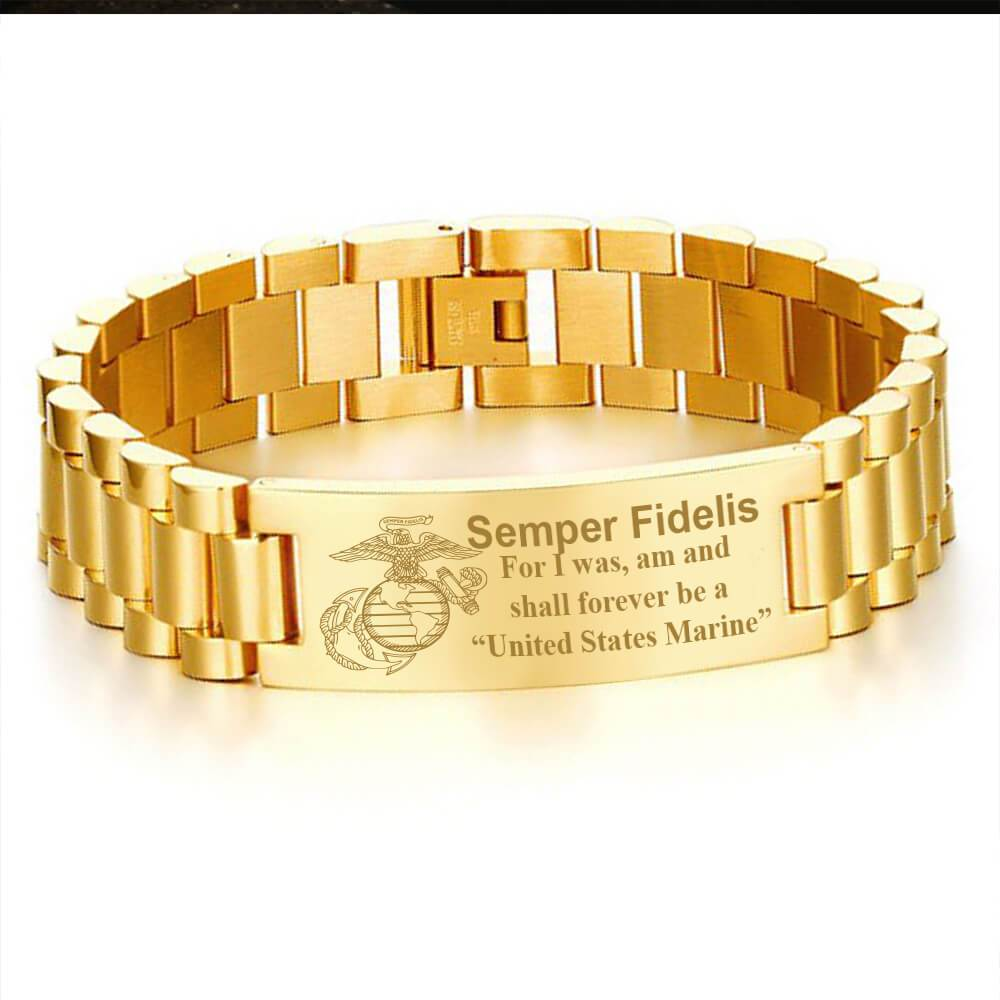 Semper fidelis for i was am and shall forever be a United States Marine men's bracelets