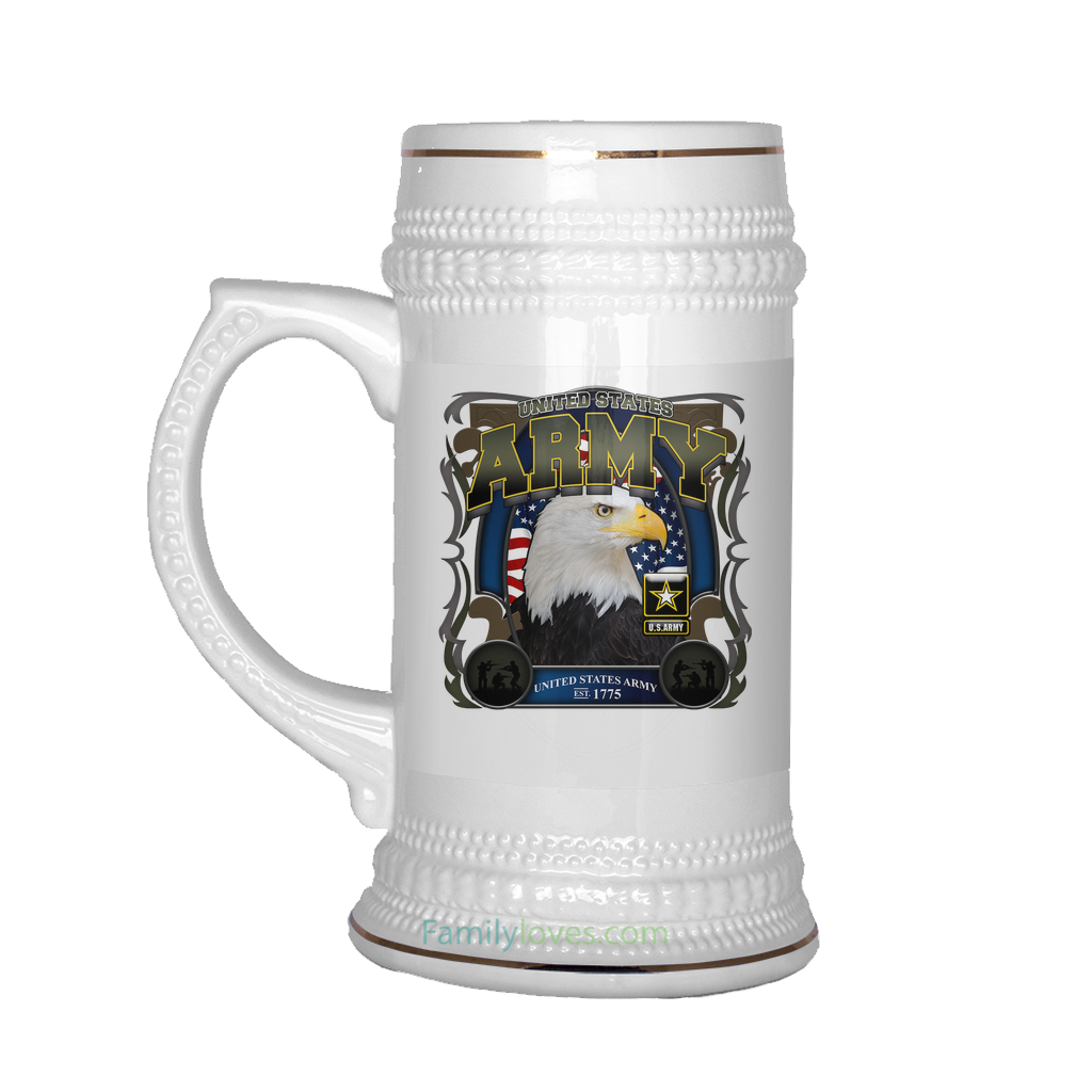 Buy UNITED STATES ARMY BEER STEIN - Familyloves hoodies t-shirt jacket mug cheapest free shipping 50% off