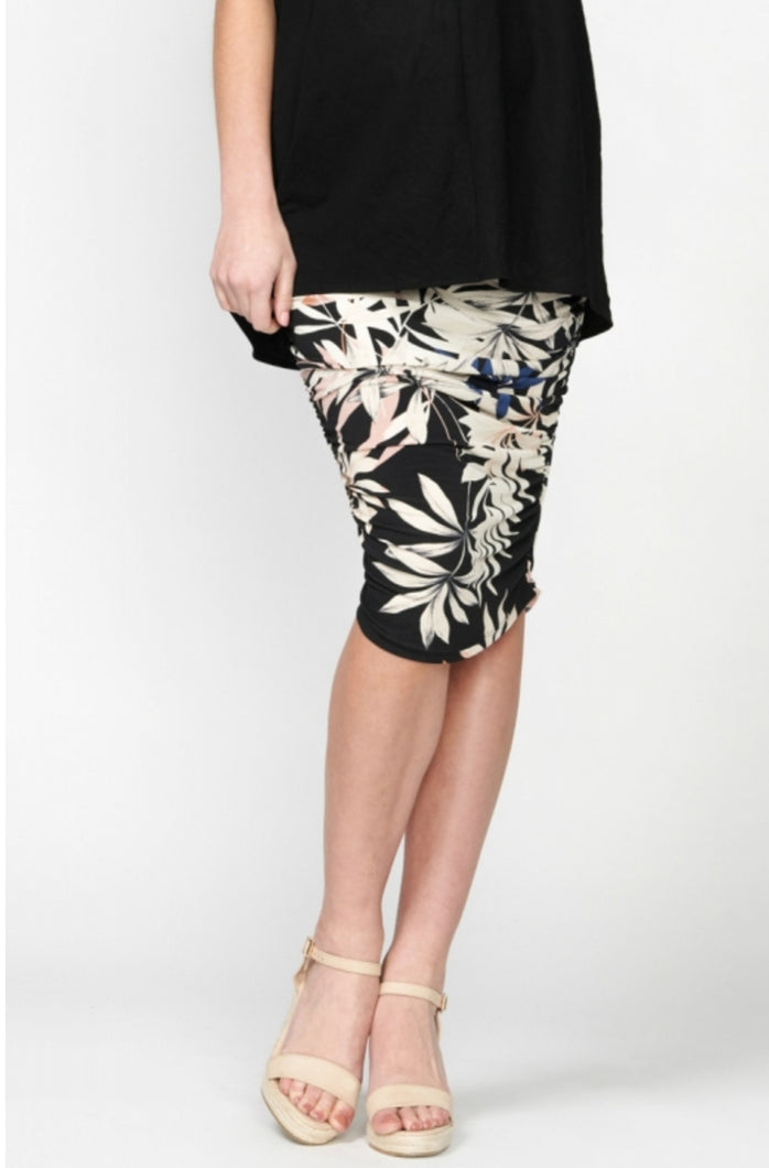 Mila Gather Pencil Skirt
