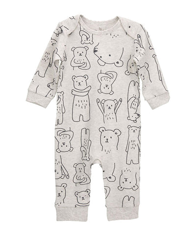 Bear Print Union Suit