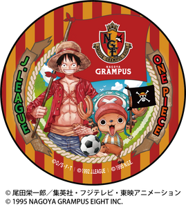 NAGOYA GRAMPUS/ONE PIECEコラボ 缶バッジ