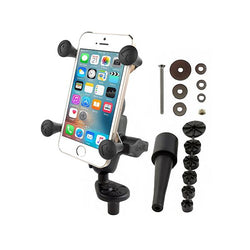 RAM Fork Stem Mount with Double Socket Arm & Universal RAM X-Grip Phone Cradle (RAM-B-176-A-UN7U) - RAM Mount Turkey