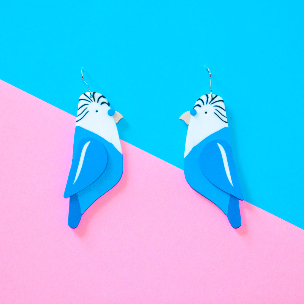 Budgie Earrings