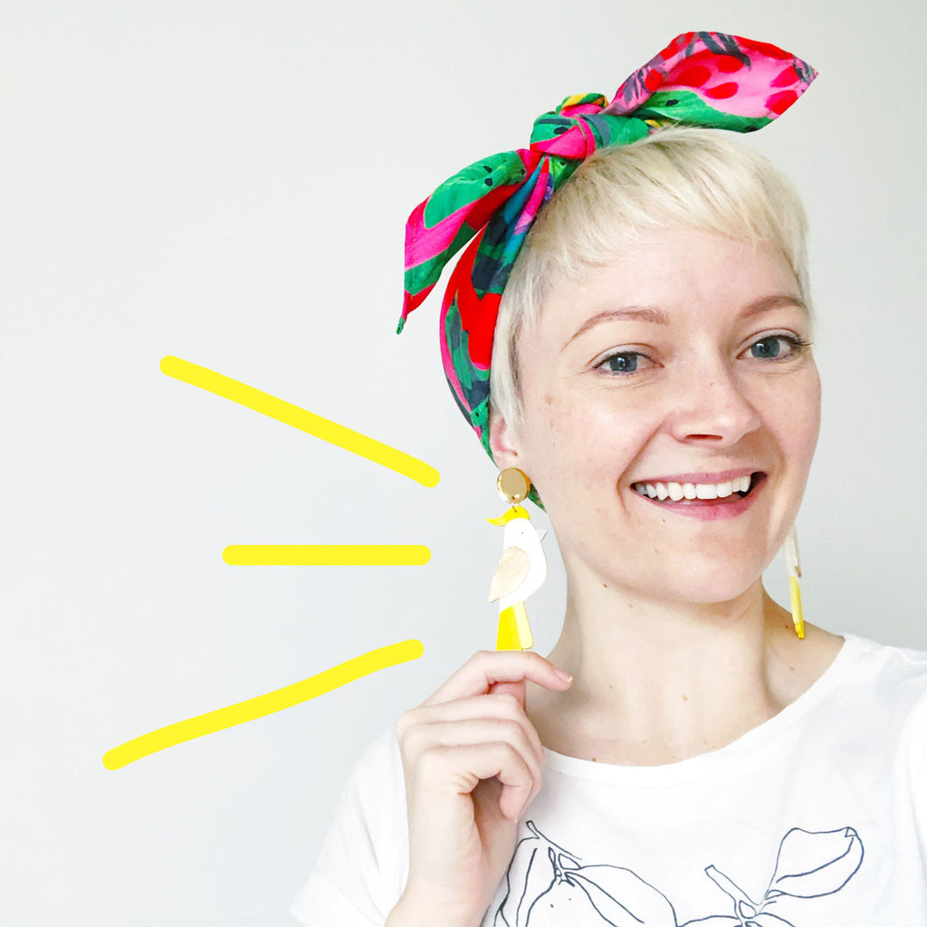 Snazzy Cockatoo Earrings