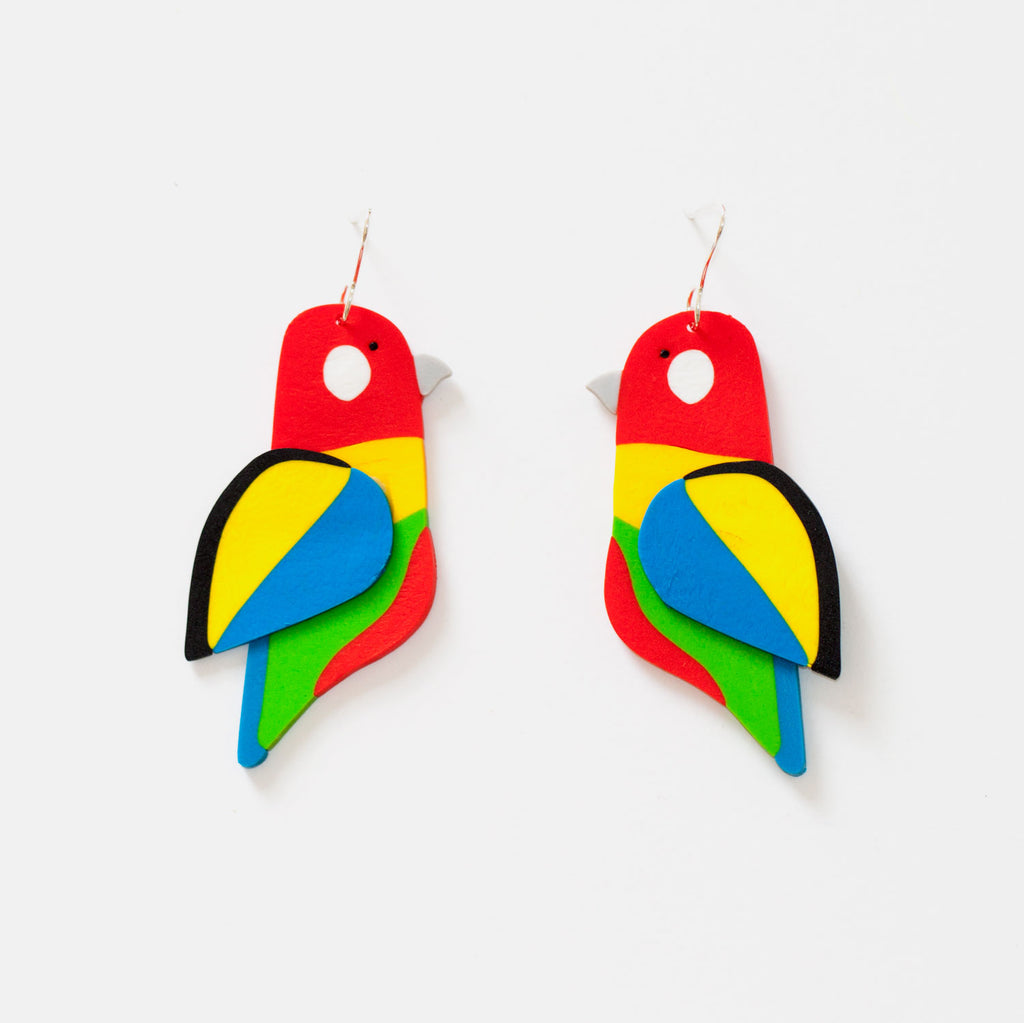 Eastern Rosella Earrings
