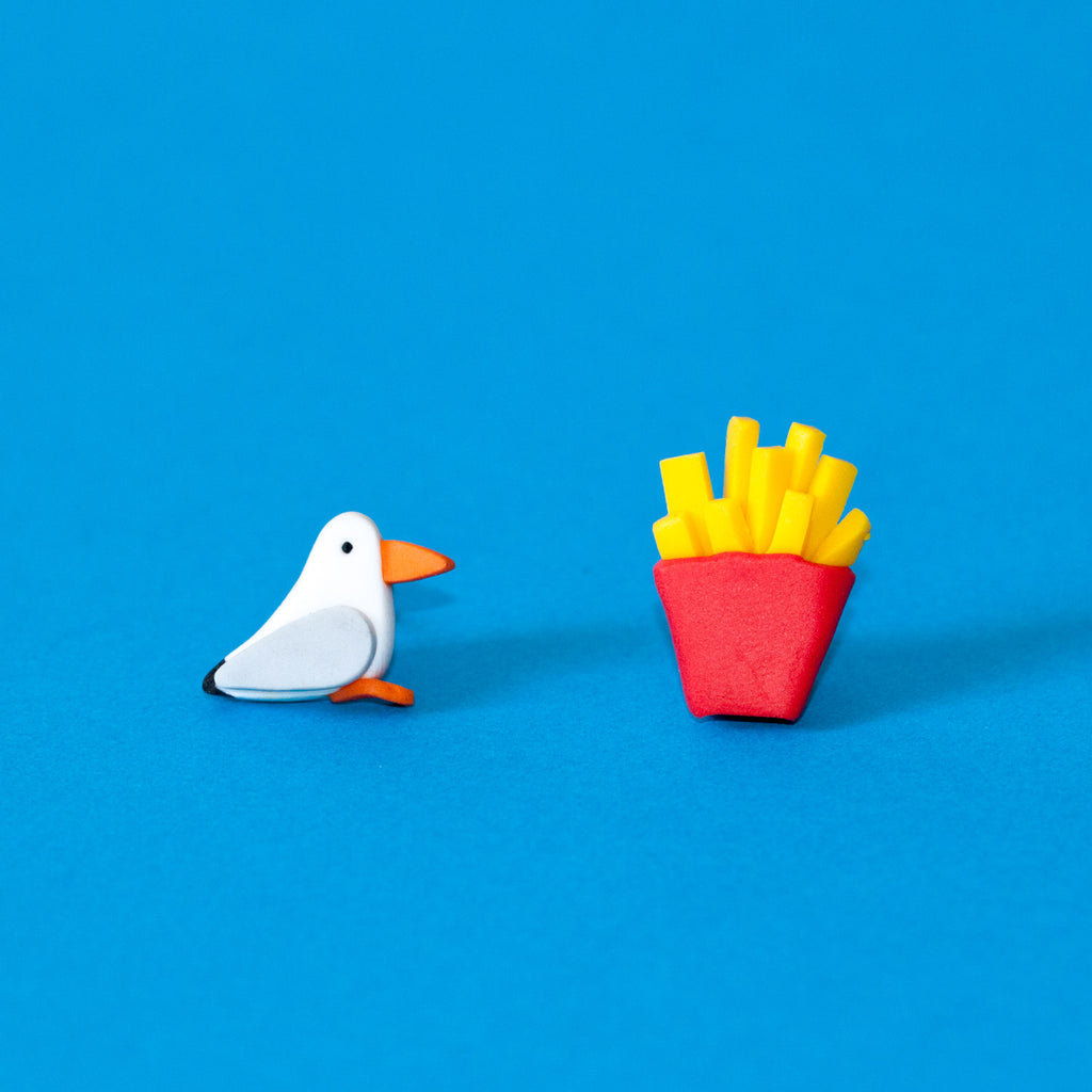 Seagull and Chip Studs