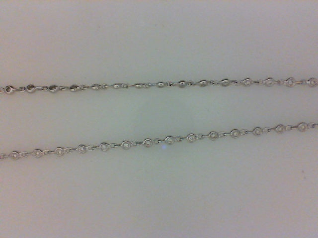 18KT WG .71CTTW 89 RD DIA CHAIN 16