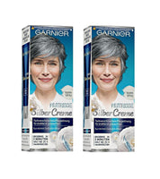 2 Packs GARNIER NUTRISSE SILVER CARE ANTI-GRAY CREAM for Women - Silver Gray - Eurodeal.shop