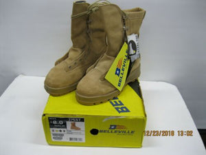 Belleville 775ST Tan Combat Boot sz 8R Steel Toe * 600G Insulation* Water Proof