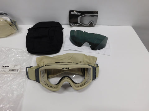 ESS Profile NVG Unit Issue ( Desert Tan ) Goggles W/ Clear & Smoke Lens
