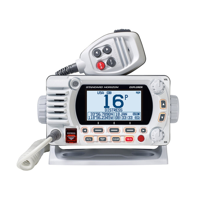 Standard Horizon 1850G Fixed Mount VHF w-GPS - White